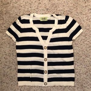 Juicy Couture Striped Knit Top Size L